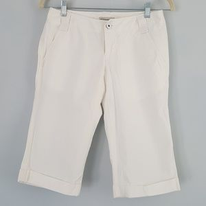 Banana Republic Khaki Chino Shorts Bermuda White 0
